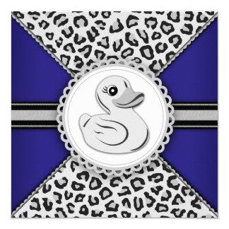 Fiesta de bienvenida al bebé de goma del pato de invitación 13,3 cm x 13,3cm