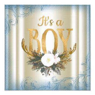 Fiesta de bienvenida al bebé de la asta de los invitación 13,3 cm x 13,3cm
