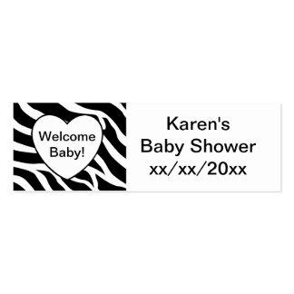 Fiesta de bienvenida al bebé de la cebra tarjetas de visita mini