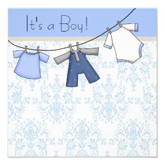 Fiesta de bienvenida al bebé de la cuerda para invitación 13,3 cm x 13,3cm