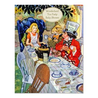Fiesta de bienvenida al bebé de la fiesta del té invitación 10,8 x 13,9 cm