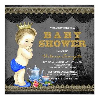 Fiesta de bienvenida al bebé de la fiesta del té invitación 13,3 cm x 13,3cm