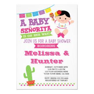 Fiesta de bienvenida al bebé de la fiesta, invitación 12,7 x 17,8 cm