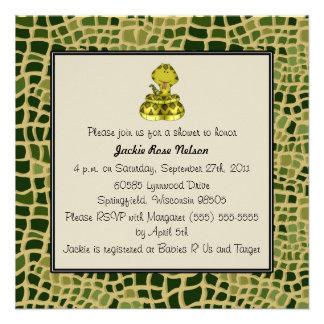 Fiesta de bienvenida al bebé de la impresión de la invitacion personalizada