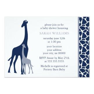 Fiesta de bienvenida al bebé de la jirafa de la invitación 12,7 x 17,8 cm