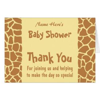 Fiesta de bienvenida al bebé de la jirafa felicitacion
