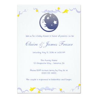 Fiesta de bienvenida al bebé de la luna, de las invitación 12,7 x 17,8 cm