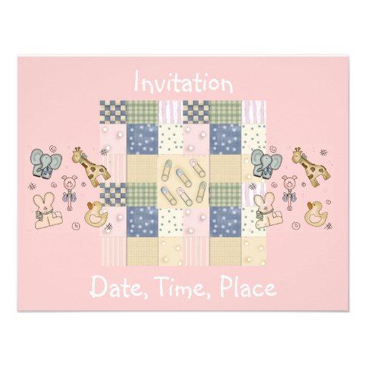 Fiesta de bienvenida al bebé de la tarjeta de la i invitación