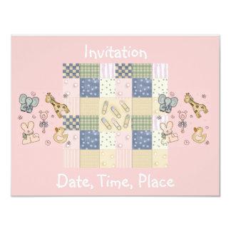 Fiesta de bienvenida al bebé de la tarjeta de la invitación 10,8 x 13,9 cm