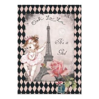 Fiesta de bienvenida al bebé de la torre Eiffel de Invitación 12,7 X 17,8 Cm
