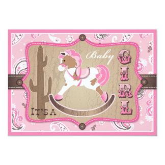 Fiesta de bienvenida al bebé de la vaquera de la invitación 12,7 x 17,8 cm