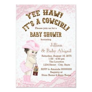 Fiesta de bienvenida al bebé de la vaquera del Haw Invitación 11,4 X 15,8 Cm