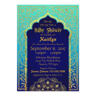 Fiesta de bienvenida al bebé de las noches árabes invitación 12,7 x 17,8 cm