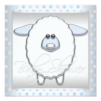Fiesta de bienvenida al bebé de las ovejas de los invitación 13,3 cm x 13,3cm