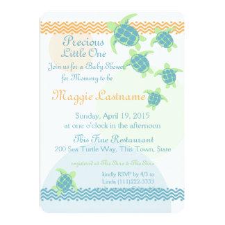 Fiesta de bienvenida al bebé de las tortugas de invitación 12,7 x 17,8 cm