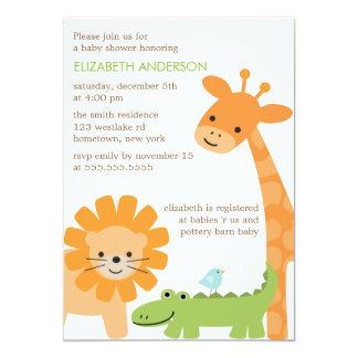 Fiesta de bienvenida al bebé de los animales de la invitación 12,7 x 17,8 cm