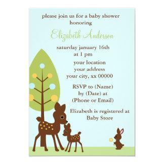 Fiesta de bienvenida al bebé de los animales del invitación 12,7 x 17,8 cm