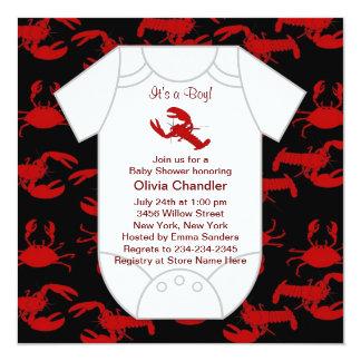 Fiesta de bienvenida al bebé de los cangrejos de invitación 13,3 cm x 13,3cm