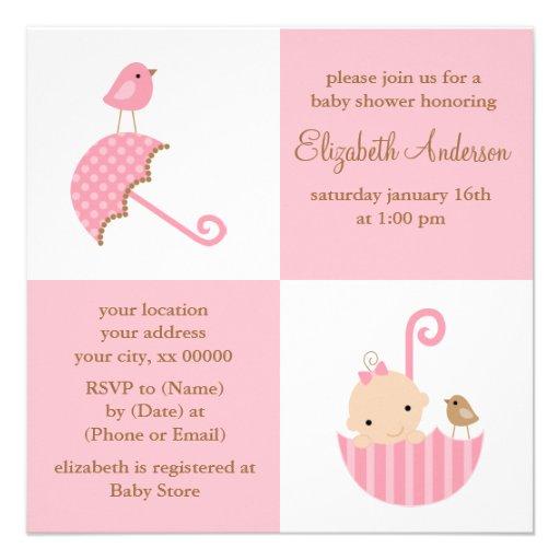 Fiesta de bienvenida al bebé de los chicas anuncios personalizados