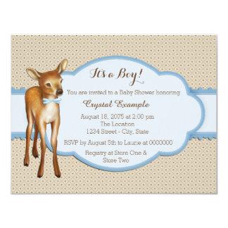 Fiesta de bienvenida al bebé de los ciervos invitación 10,8 x 13,9 cm