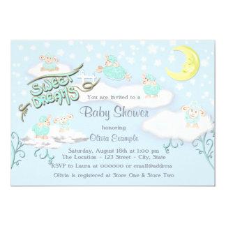 Fiesta de bienvenida al bebé de los sueños dulces invitación 12,7 x 17,8 cm