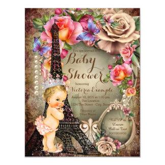 Fiesta de bienvenida al bebé de París de la Invitación 10,8 X 13,9 Cm