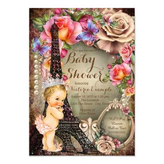 Fiesta de bienvenida al bebé de París de la Invitación 12,7 X 17,8 Cm