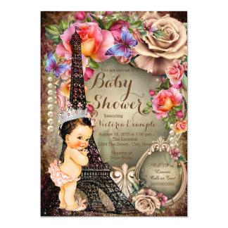 Fiesta de bienvenida al bebé de París de la torre Invitación 12,7 X 17,8 Cm
