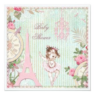 Fiesta de bienvenida al bebé de princesa Ballerina Invitacion Personal