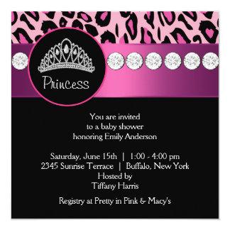 Fiesta de bienvenida al bebé de princesa Girl del Invitación 13,3 Cm X 13,3cm