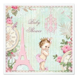 Fiesta de bienvenida al bebé de princesa Shabby Anuncios Personalizados