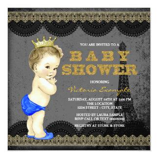 Fiesta de bienvenida al bebé de príncipe París de Invitación 13,3 Cm X 13,3cm