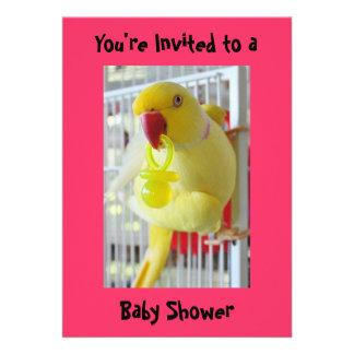 Fiesta de bienvenida al bebé del amarillo del Para Anuncios