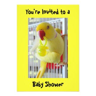 Fiesta de bienvenida al bebé del amarillo del Para Comunicados