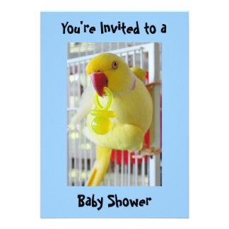 Fiesta de bienvenida al bebé del amarillo del Para Invitacion Personalizada