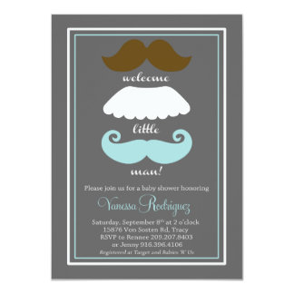 Fiesta de bienvenida al bebé del bigote invitación 11,4 x 15,8 cm
