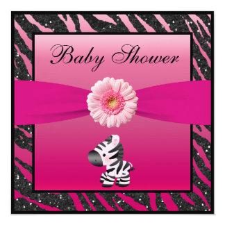 Fiesta de bienvenida al bebé del brillo de la invitación 13,3 cm x 13,3cm