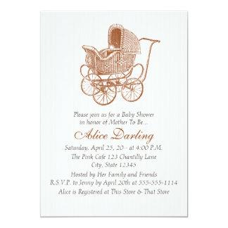 Fiesta de bienvenida al bebé del carro de bebé de invitación 12,7 x 17,8 cm