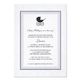 Fiesta de bienvenida al bebé del carro de bebé del invitación 12,7 x 17,8 cm