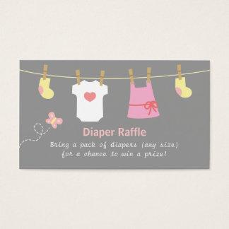 Fiesta de bienvenida al bebé del chica, boletos de tarjeta de negocios