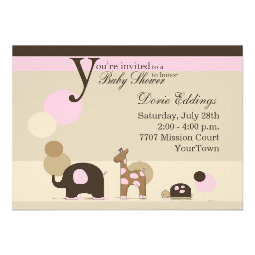Fiesta de bienvenida al bebé del chica del peluche invitaciones personales