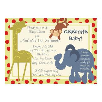 Fiesta de bienvenida al bebé del circo del tiempo invitación 12,7 x 17,8 cm
