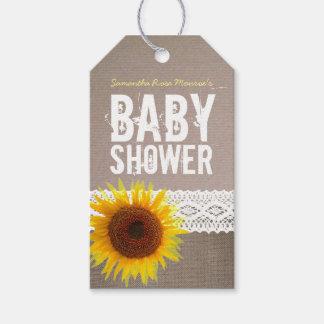 Fiesta de bienvenida al bebé del cordón de la etiquetas para regalos