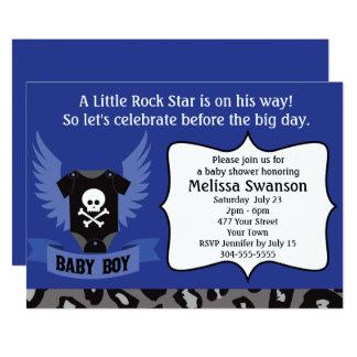 Fiesta de bienvenida al bebé del cráneo de la invitación 12,7 x 17,8 cm