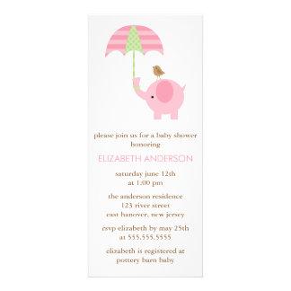 Fiesta de bienvenida al bebé del elefante rosado comunicado personal