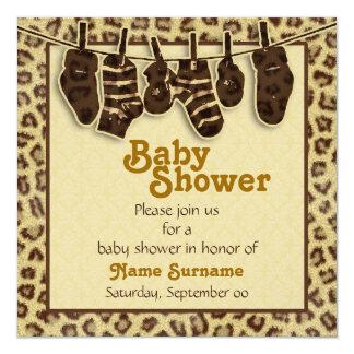 Fiesta de bienvenida al bebé del estampado de invitación 13,3 cm x 13,3cm