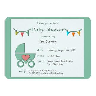 Fiesta de bienvenida al bebé del estilo de invitación 11,4 x 15,8 cm