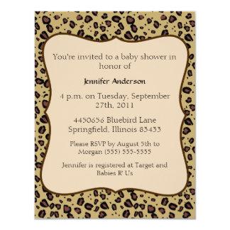 Fiesta de bienvenida al bebé del guepardo invitación 10,8 x 13,9 cm