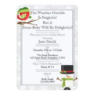 Fiesta de bienvenida al bebé del invierno invitación 12,7 x 17,8 cm