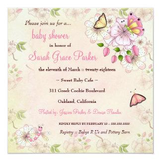 Fiesta de bienvenida al bebé del jardín de LGC el Invitación 13,3 Cm X 13,3cm